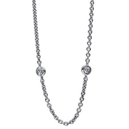 18 kt fehérarany nyaklánc 5 gyémánttal 4D467W8-1