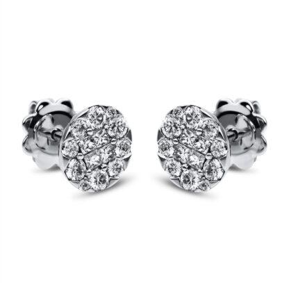 18 kt fehérarany steckeres 28 gyémánttal 2C345W8-2