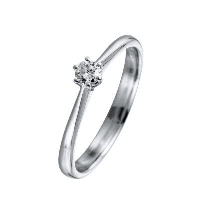 18 kt fehérarany szoliter 1 gyémánttal 1A734W856-1