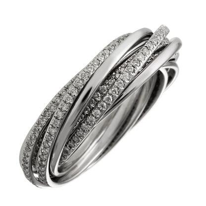 18 kt fehérarany több köves gyűrű 354 gyémánttal 1B435W854-1