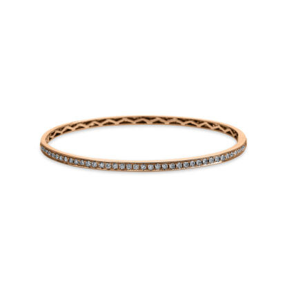 18 kt red gold bangle with 83 diamonds 6A035R8-9