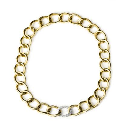 18 kt sárga arany nyaklánc 166 gyémánttal 4A161G8-1
