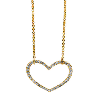 18 kt sárga arany nyaklánc 44 gyémánttal 4C779G8-1