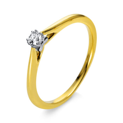 18 kt  szoliter 1 gyémánttal 1O290GP853-1