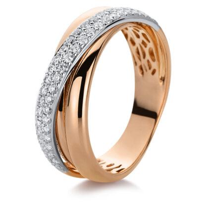 18 kt vörös arany / fehérarany pavé 49 gyémánttal 1B993RW852-1
