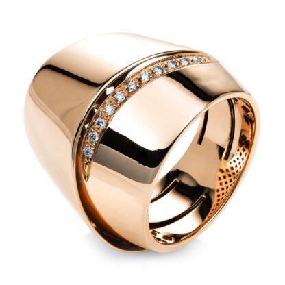 18 kt vörös arany több köves gyűrű 13 gyémánttal 1G674R856-1