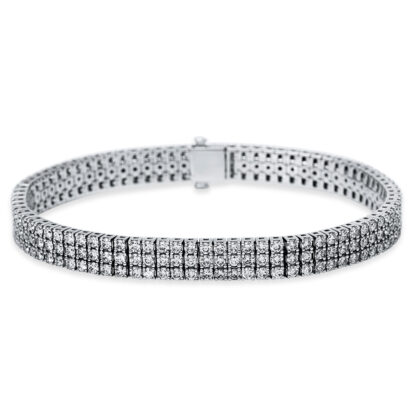 18 kt white gold bracelet with 240 diamonds 5B914W8-1