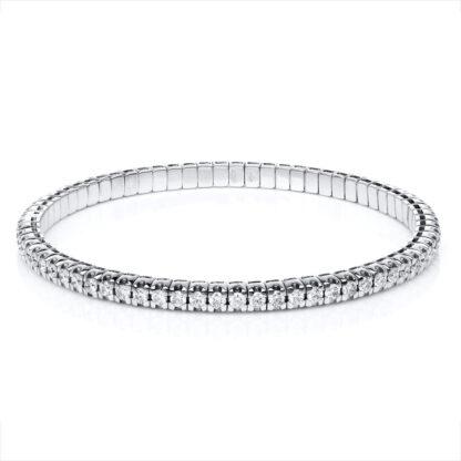 18 kt white gold bracelet with 70 diamonds 5A917W8-16