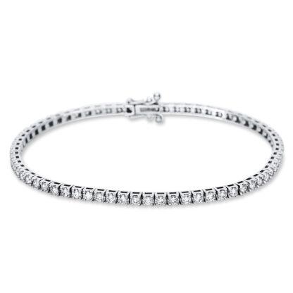 18 kt white gold bracelet with 71 diamonds 5B988W8-2
