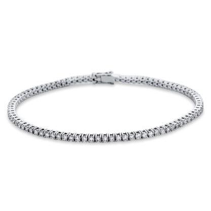 18 kt white gold bracelet with 87 diamonds 5C003W8-1