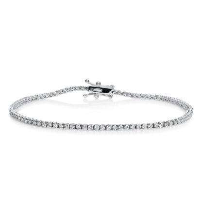 18 kt white gold bracelet with 91 diamonds 5A436W8-9