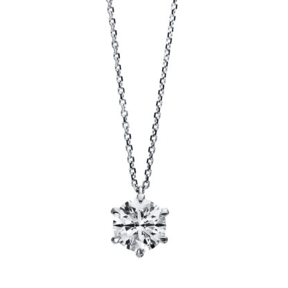 18 kt white gold necklace with 1 diamond 4C958W8-10