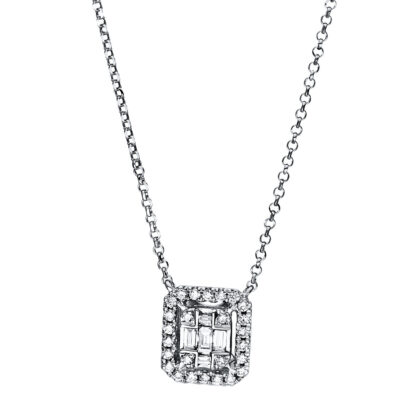 18 kt white gold necklace with 31 diamonds 4E327W8-2
