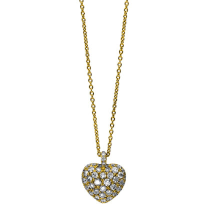 18 kt yellow gold necklace with 52 diamonds 4B998G8-1