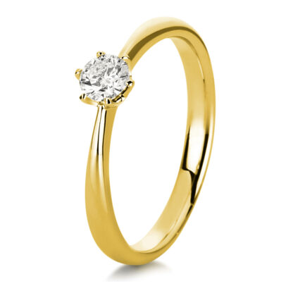 18 kt yellow gold solitaire with 1 diamond 1C481G852-3