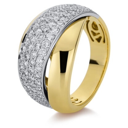 18 kt yellow gold / white gold pavé with 92 diamonds 1B976GW855-1