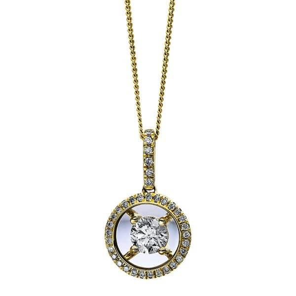 10 kt sárga arany nyaklánc 36 gyémánttal 4D249G0-1