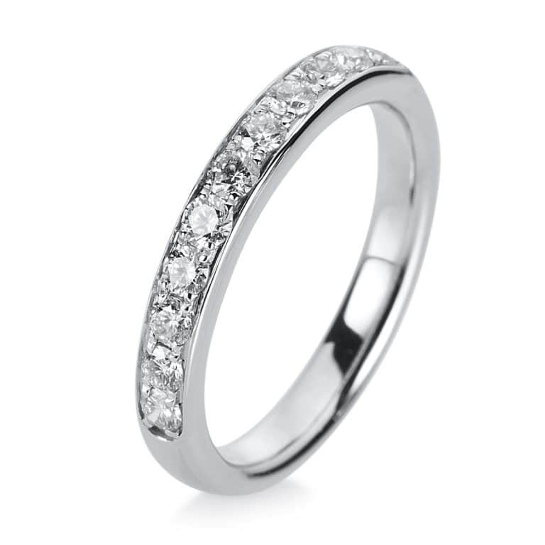 14 kt fehérarany félig köves eternity 11 gyémánttal 1A468W452-2