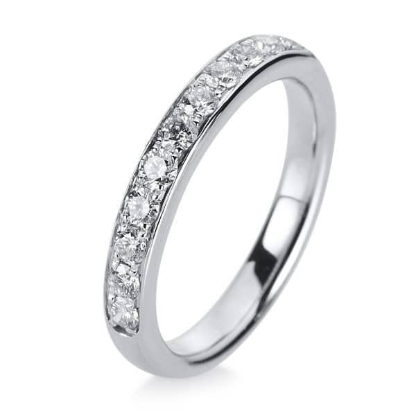 14 kt fehérarany félig köves eternity 11 gyémánttal 1A468W454-2