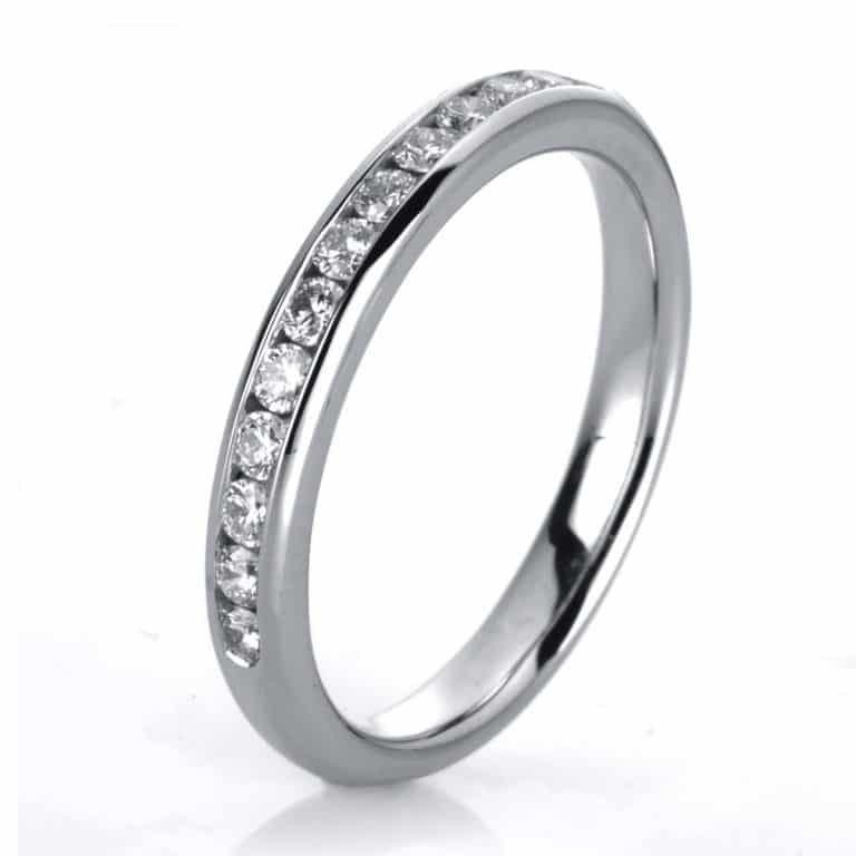 14 kt fehérarany félig köves eternity 13 gyémánttal 1A467W452-2