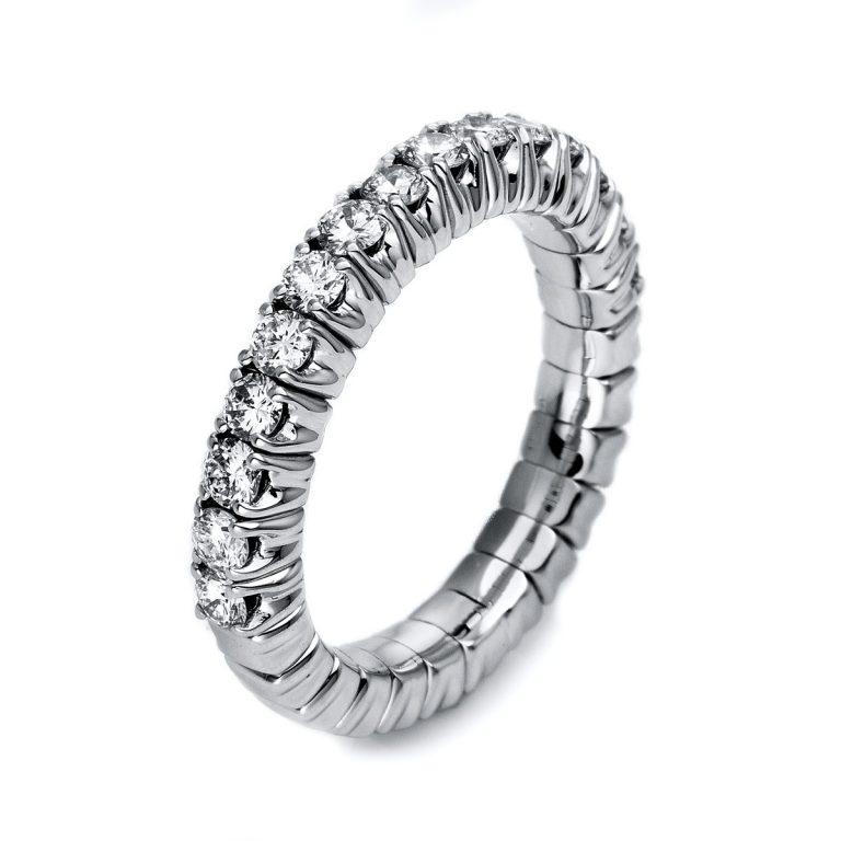 14 kt fehérarany félig köves eternity 15 gyémánttal 1M248W456-1