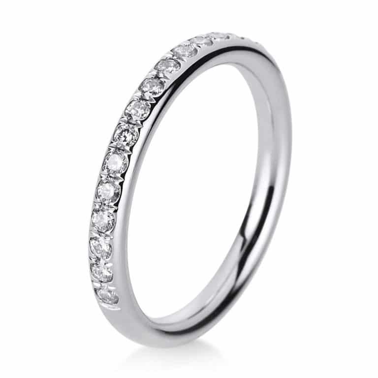 14 kt fehérarany félig köves eternity 17 gyémánttal 1B816W452-1