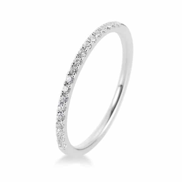 14 kt fehérarany félig köves eternity 19 gyémánttal 1B202W452-4