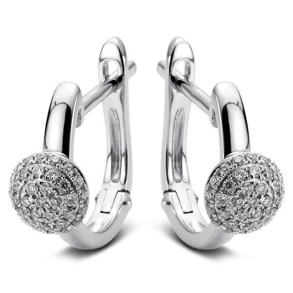 14 kt fehérarany fülbevaló 70 gyémánttal 2A489W4-1