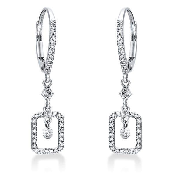 14 kt fehérarany fülbevaló 80 gyémánttal 2I933W4-1