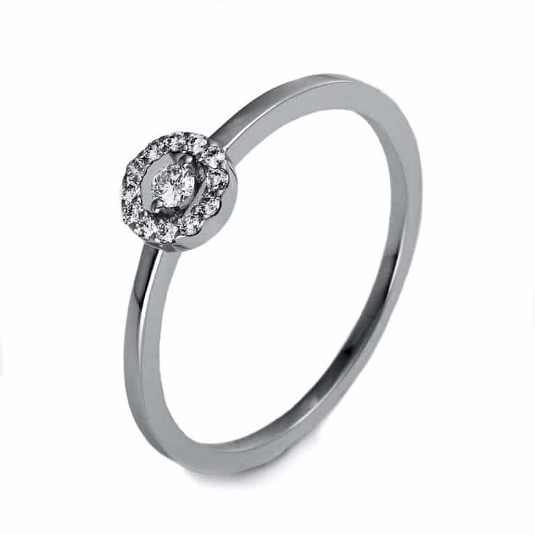 14 kt fehérarany illúzió 13 gyémánttal 1O506W455-2