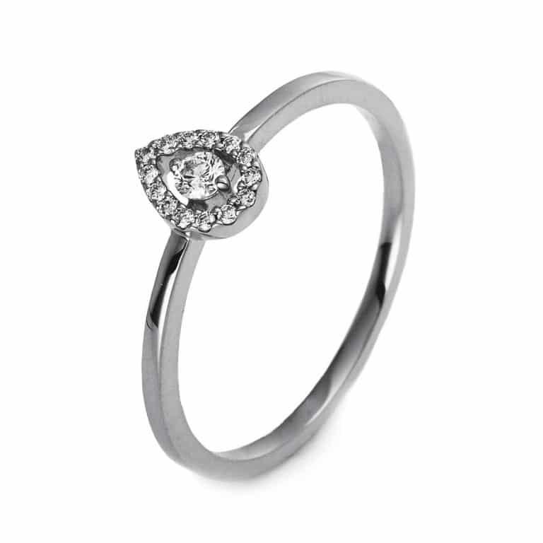 14 kt fehérarany illúzió 15 gyémánttal 1O510W455-4