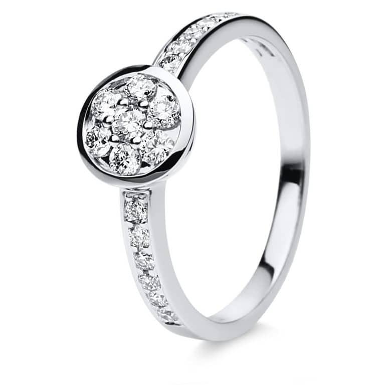 14 kt fehérarany illúzió 19 gyémánttal 1C007W454-1