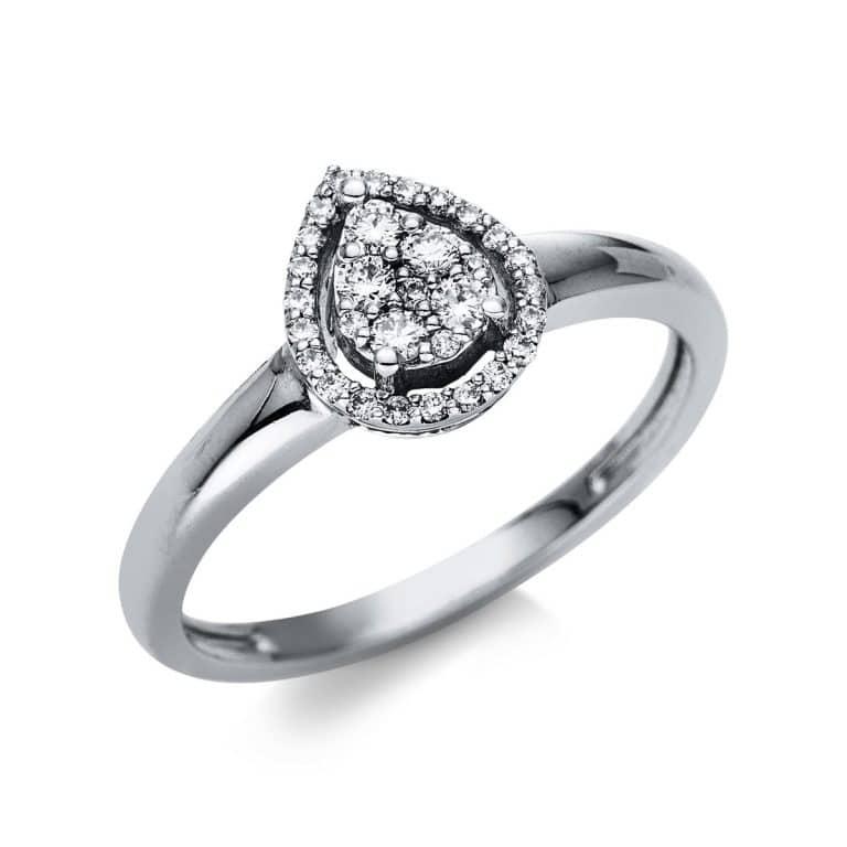 14 kt fehérarany illúzió 31 gyémánttal 1T797W452-1