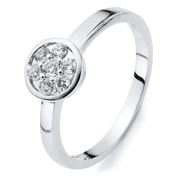 14 kt fehérarany illúzió 7 gyémánttal 1C004W454-1
