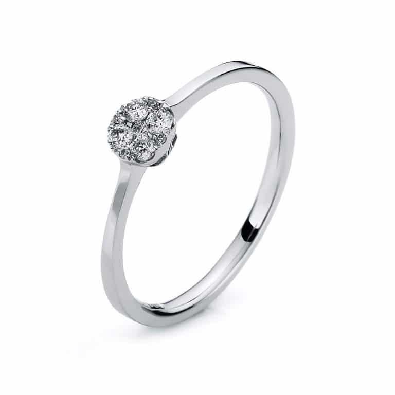 14 kt fehérarany illúzió 9 gyémánttal 1A801W456-1