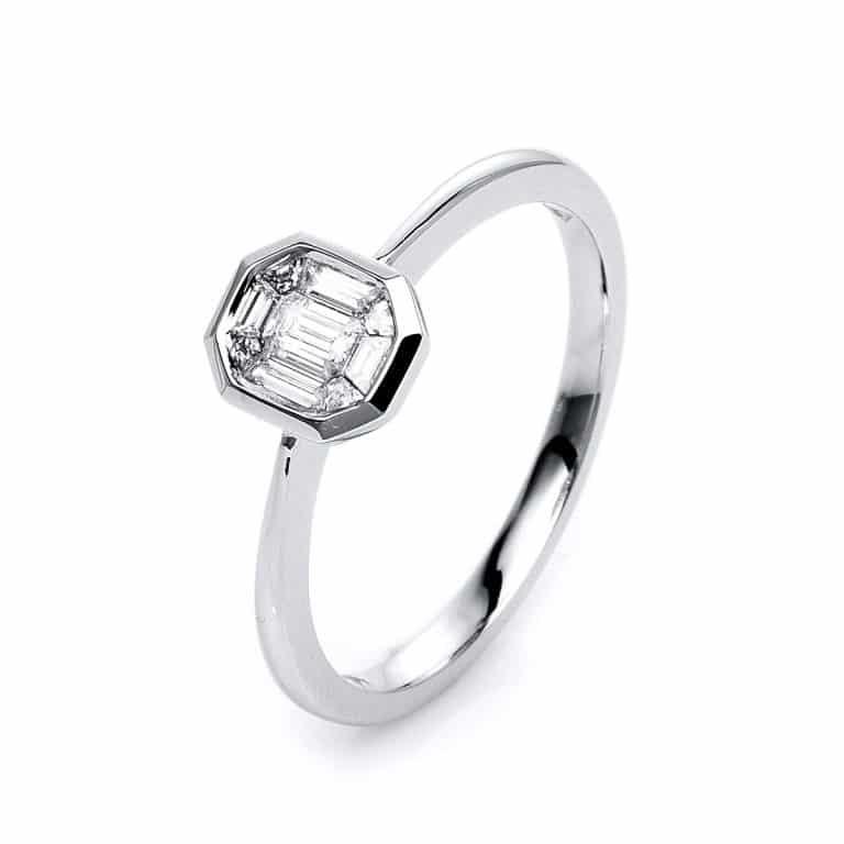 14 kt fehérarany illúzió 9 gyémánttal 1K311W454-1