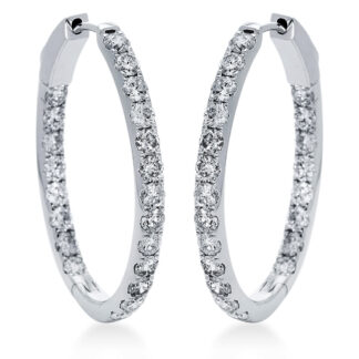14 kt fehérarany karika és huggie 42 gyémánttal 2I626W4-2