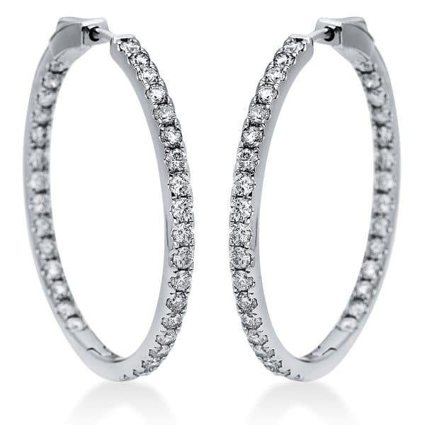 14 kt fehérarany karika és huggie 66 gyémánttal 2I863W4-2