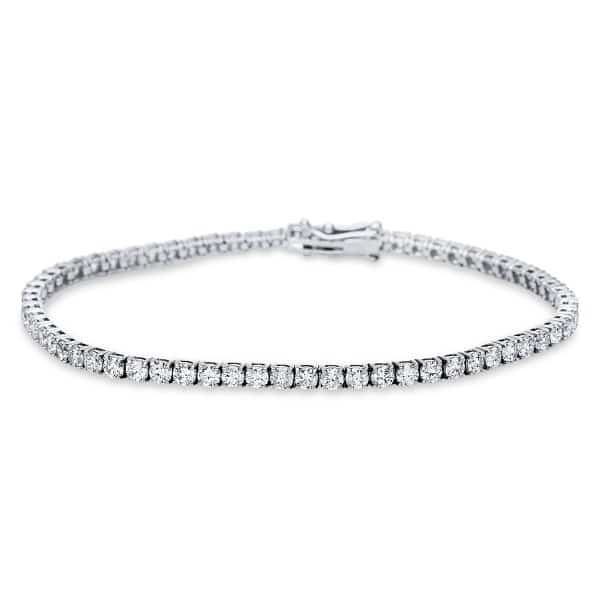 14 kt fehérarany karkötő 66 gyémánttal 5C024W4-1