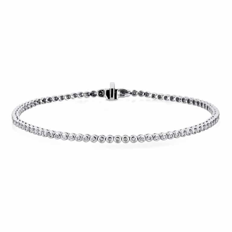 14 kt fehérarany karkötő 84 gyémánttal 5A227W4-4