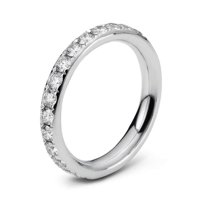 14 kt fehérarany körbe köves eternity 28 gyémánttal 1C360W454-1