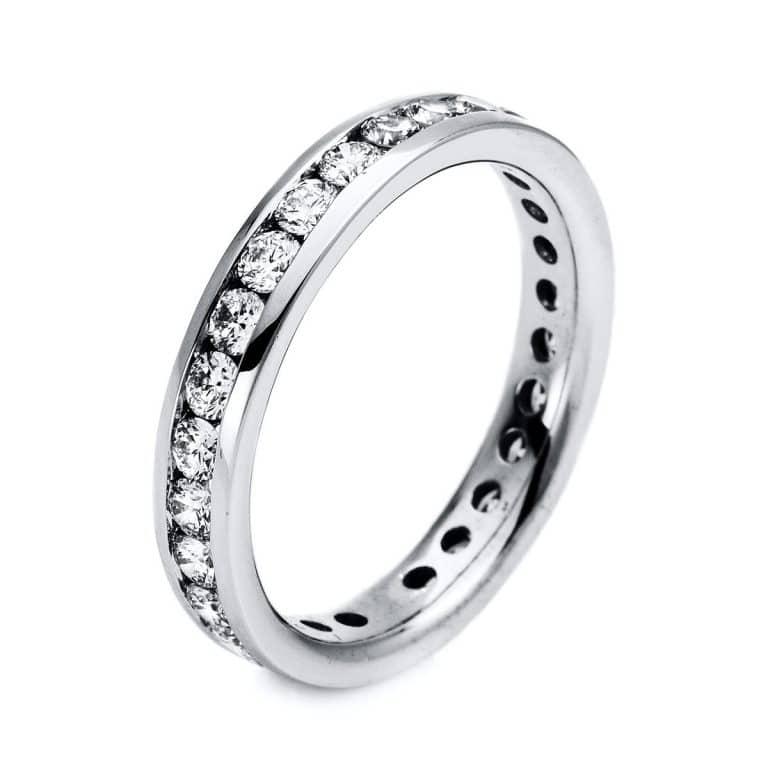 14 kt fehérarany körbe köves eternity 28 gyémánttal 1M207W454-1