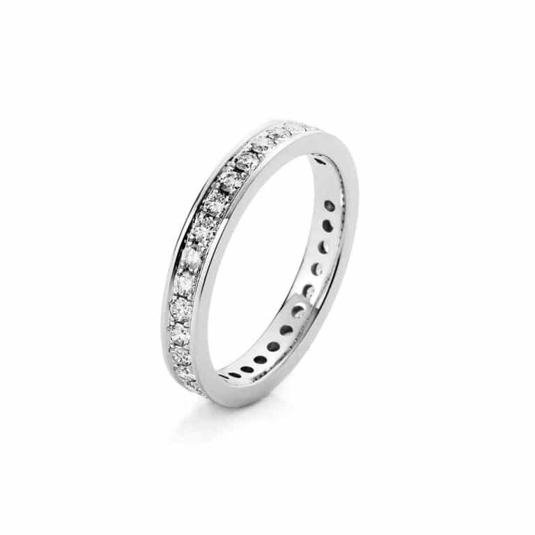 14 kt fehérarany körbe köves eternity 32 gyémánttal 1A475W454-3