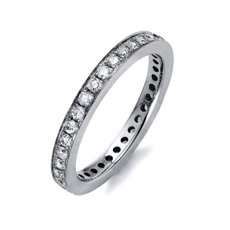 14 kt fehérarany körbe köves eternity 35 gyémánttal 1K405W454-1