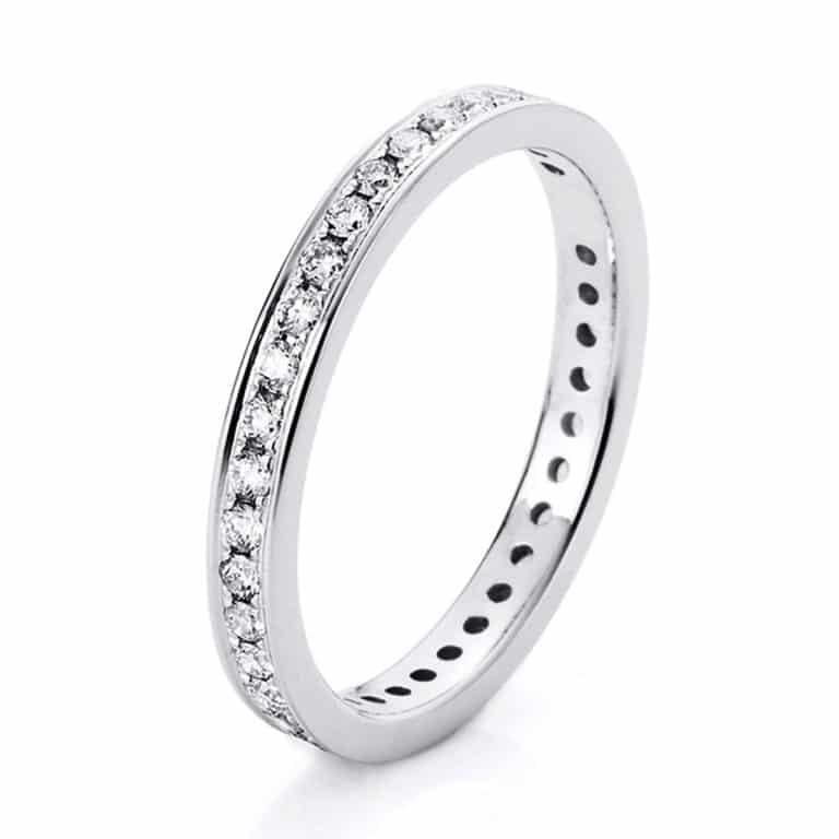 14 kt fehérarany körbe köves eternity 38 gyémánttal 1A474W454-1