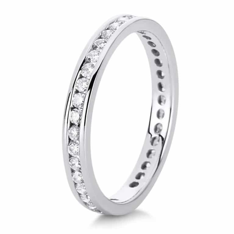 14 kt fehérarany körbe köves eternity 38 gyémánttal 1C545W454-1