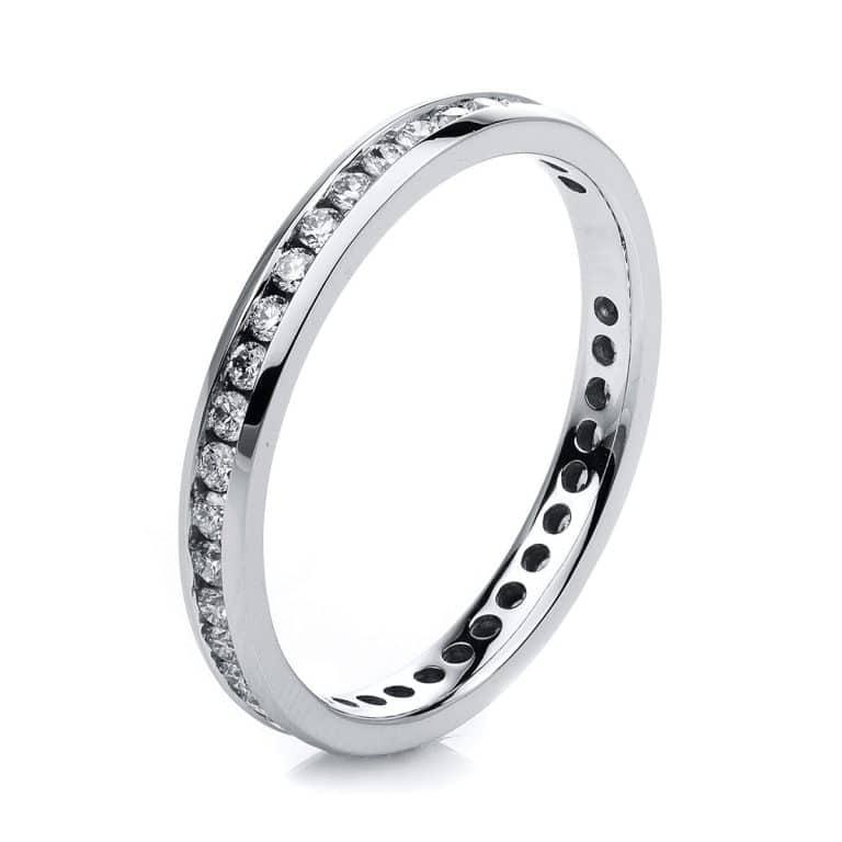 14 kt fehérarany körbe köves eternity 41 gyémánttal 1C544W454-1
