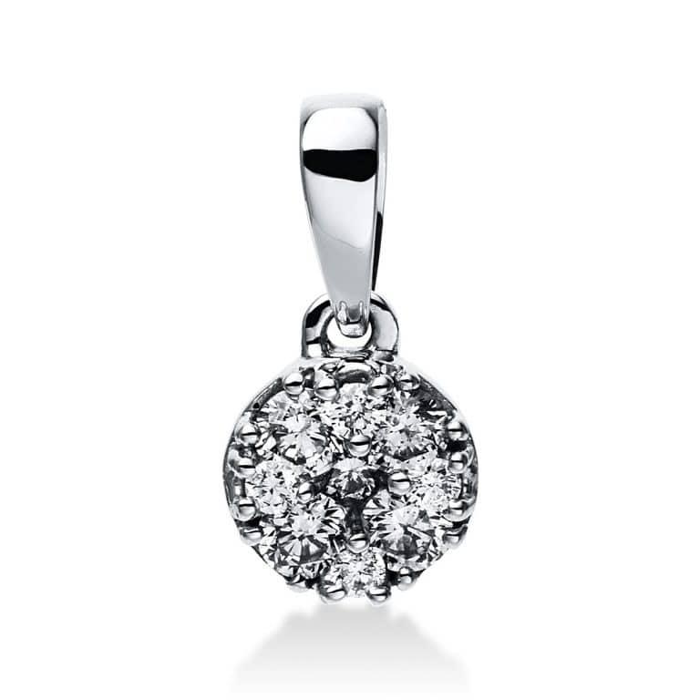 14 kt fehérarany medál 10 gyémánttal 3E047W4-1