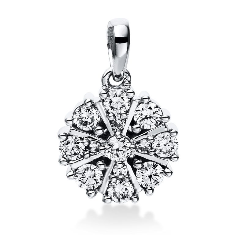 14 kt fehérarany medál 13 gyémánttal 3E049W4-1