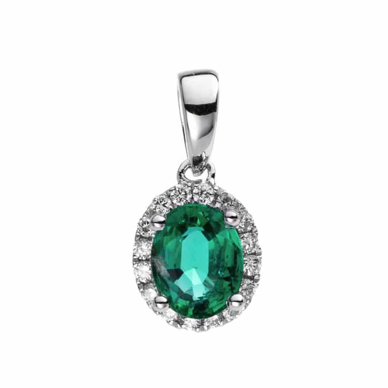 14 kt fehérarany medál 16 gyémánttal